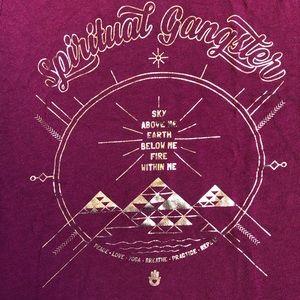Spiritual Gangster Tops - Spiritual Gangster Gold Foil Graphic Tank Top